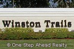 Winston Trails community sign